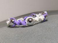 Tutoriel: macramé rond bicolore perlé
