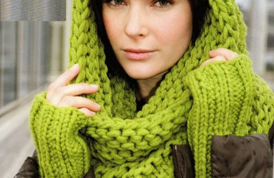 Tutoriel tricot - Ensemble mitaines et snood