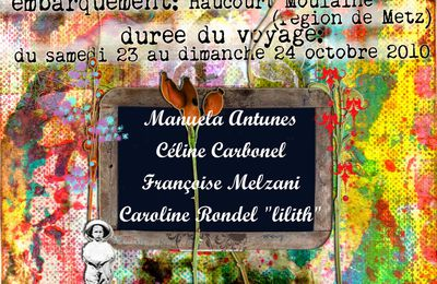 un give-away au jardin du mixed media