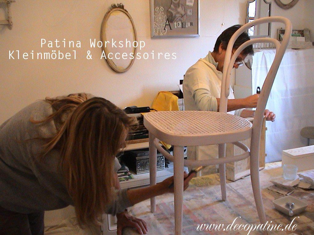 Wir lernen die unterschiedlichen Etappen der Oberflächegestaltung mit antik Patinas und eignen uns das Knowhow zur Restauration der eigenen Möbel bzw. Wohnaccessoires