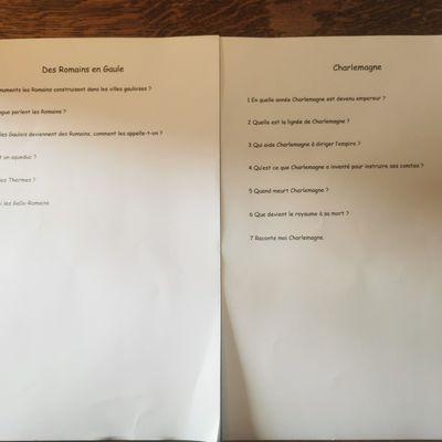 Petits questionnaires d'Histoire et mathématiques