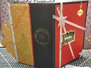 Carte - Paquets Cadeau - Noël - 2016 - Joeyux Noël - Scrap - Fait Main - Strass - Stickers - Etiquettes - Boules - Bolduc