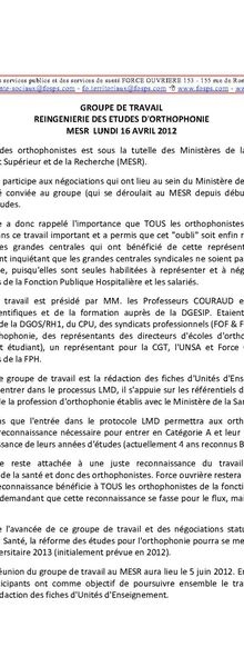Orthophonie : Formation Initiale
