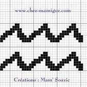 Pictogramme Zodiaque à broder : le Verseau - Chez Mamigoz