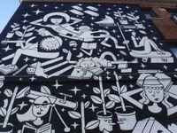 Cette murale a été l'une des pièces maîtresses du Festival Mural 2018.