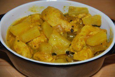 Blancs de poulet au curry et à l' ananas (Inde)