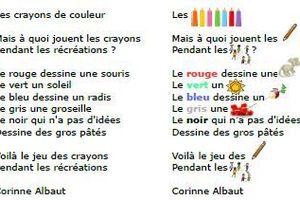 Poésie : les crayons de couleur CP CE1 ULIS