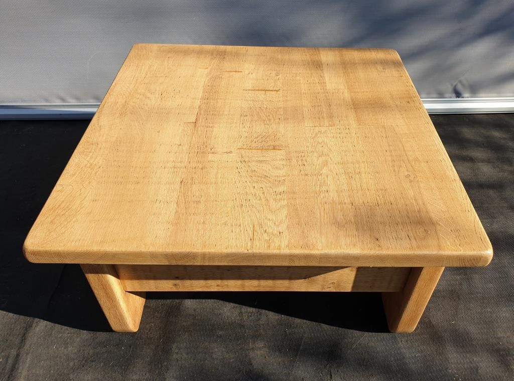 """Table basse brutalisme 1960 """"square in the rough"""" - 300 euros"""