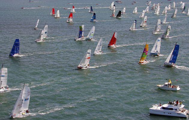 81 skippers s'élancent de La Rochelle pour la Mini-Transat 2017!