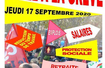 Manifestation et Grève le 17 septembre 2020 à Compiègne