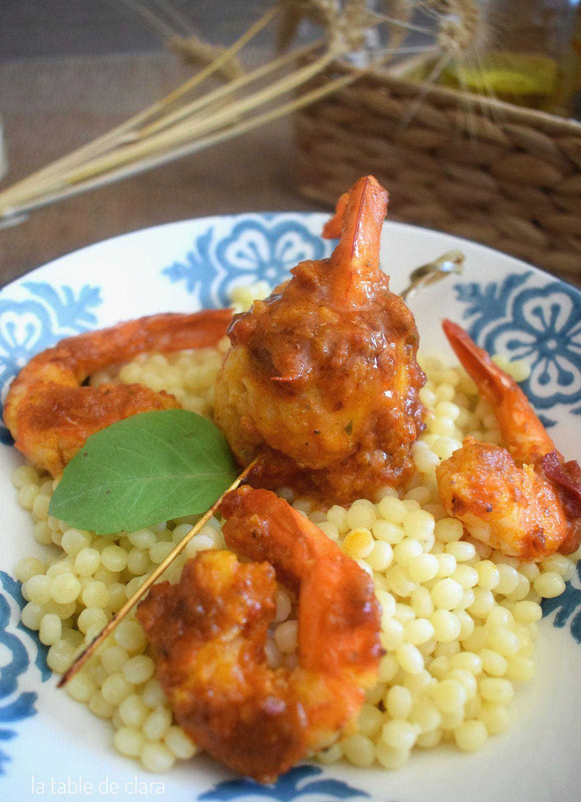 Filets de merlan et crevettes sauce tex mex