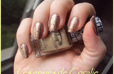 Color Club Fractured Tattered in Gold