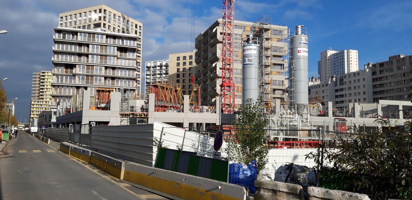 Chapelle International : chantier du lot H (Novembre 2020)  -  Photo ASA PNE