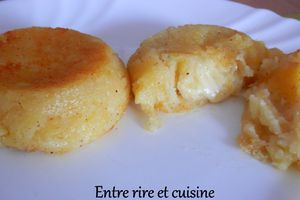Muffins de pommes de terre coeur coulant fromagé