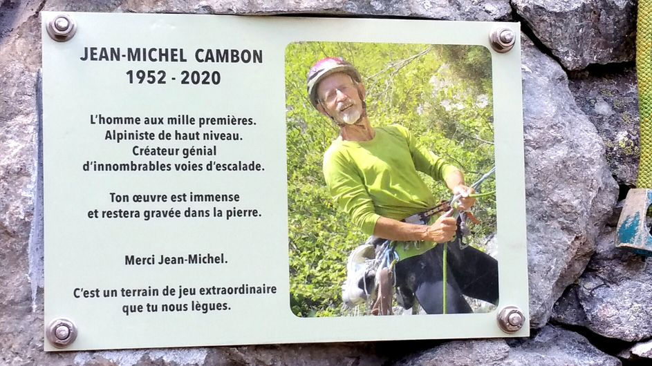 Hommage posthume à Jean-Michel Cambon (Ailefroide).