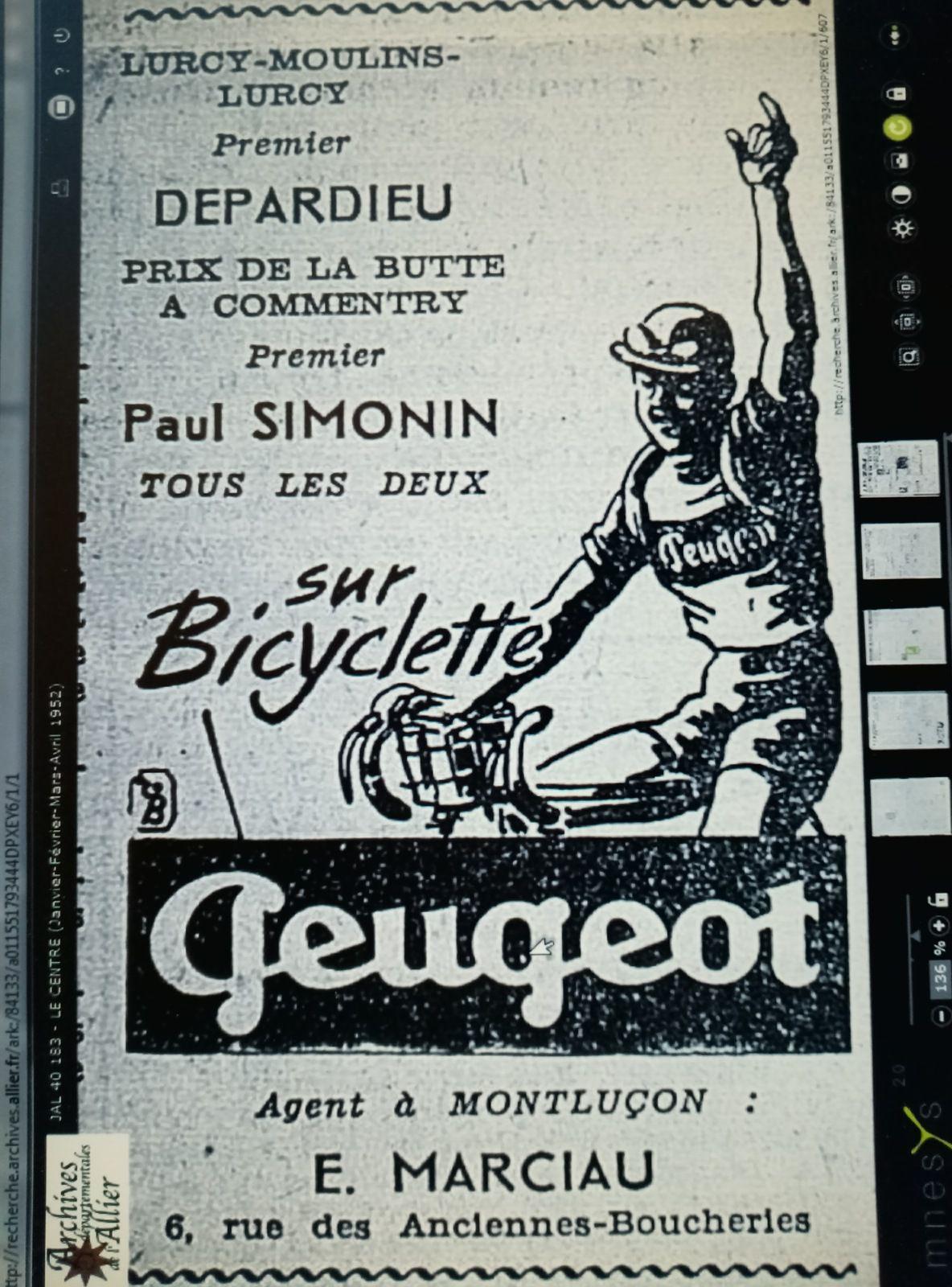 Publicités parues dans la presse régionale des années 50