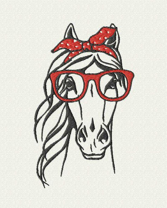 Cheval lunettes
