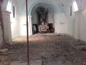 Lambruisse: les travaux de l'église  ont « ENFIN » démarré!!!