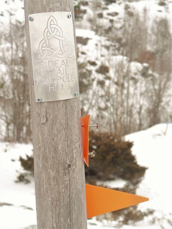 Séance photo en haut de Flagpole Hill