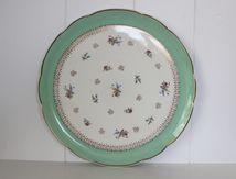 Plat à tarte Digoin et Sarreguemines Décor petites fleurs Années 60 - Vintage