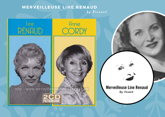 CD: 2019 MCA Records - 2CD Patrimoine - 774 630-0 - Line Renaud & Annie Cordy
