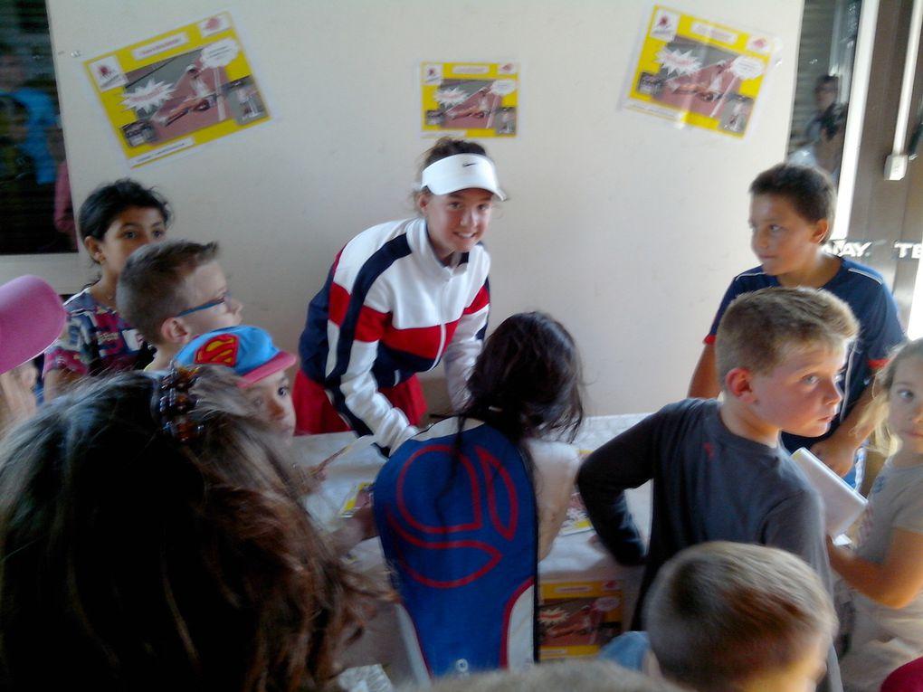 les enfants de l'école de tennis du TC MIRAMAS