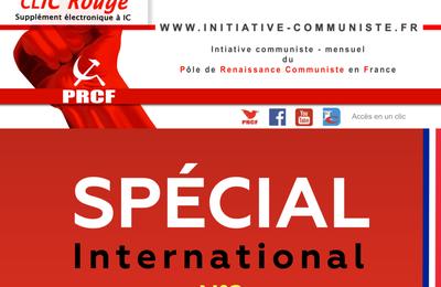 CLIC Rouge 227, Spécial International 2, supplément électronique gratuit à Initiative Communiste (avril 2021)