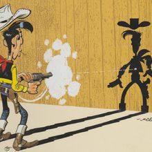 A livres ouverts.... Lucky Luke, a poor lonesome cowboy.