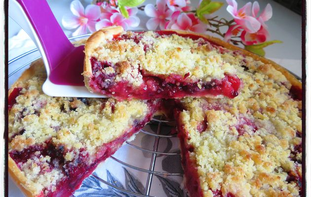 Tarte crumble aux fruits rouges