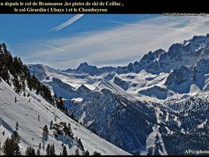 de Ceillac au COL de BRAMOUSSE ( Hivernale en Raquettes ) - descente sur la vallée du Guil !