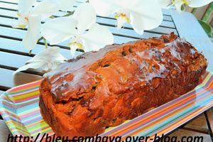 Cake à la Tomate-Ricotta, Chorizo, Aubergines et Olives Noires
