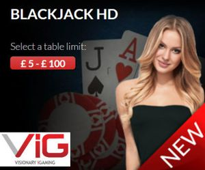 Visionary iGaming lance le Blackjack HD Live