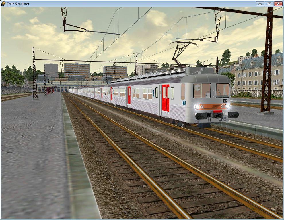 """Album photo sur le jeu de Microsoft """" Train Simulator """" Ce sont des captures d'écran personneles"""
