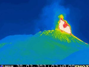 Etna SEC - activity of 02.28.2021 / 07h48 - INGV OE webcams - one click to enlarge