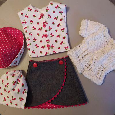 Les tenues d'été de Capucine, poupée Finouche de Sylvia Natterer 1. La jupe portefeuille