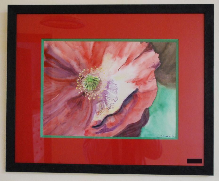 peinture sur verre, aquarelle, peinture à l'huile