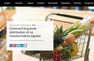 Comment la grande distribution vit sa transformation digitale