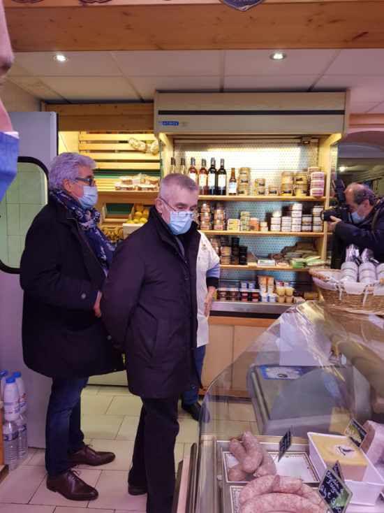 Après une visite dans la Creuse vendredi 26 février, le Secrétaire général de FO, Yves Veyrier, était à Carcassonne, dans le département de l'Aude le mardi 2 mars.