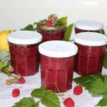Conserves de compote pommes framboises (sans sucre ajouté)