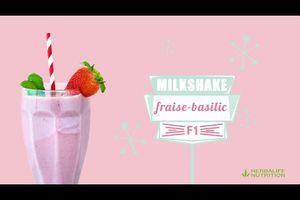 MilkShake Fraise Basilic