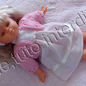 tuto gratuit poupée : petite veste à trou- trous - Chez Laramicelle
