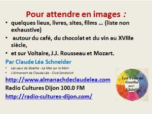 """Voltaire, Rousseau, Mozart, café, chocolat ou vin : """"Pour attendre en images"""""""