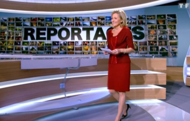 2012 12 01 - CLAIRE CHAZAL - TF1 - REPORTAGES @13H30