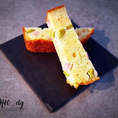 Cake jambon cornichons à la farine de sarrasin