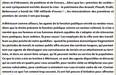 La tribune libre du groupe majoritaire (Méricourt notre ville, juillet 2021)