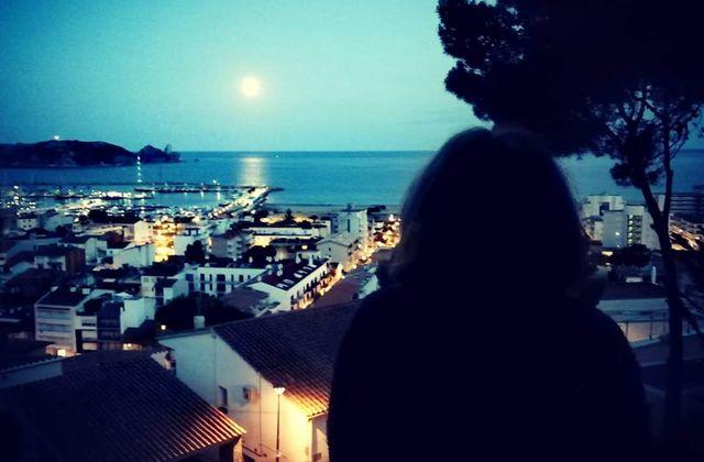 Pleine lune sur les îles Medes