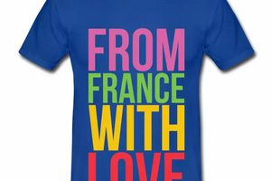T shirt France from france with love HBR