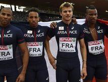 Les relayeurs français 4x100m en bronze !