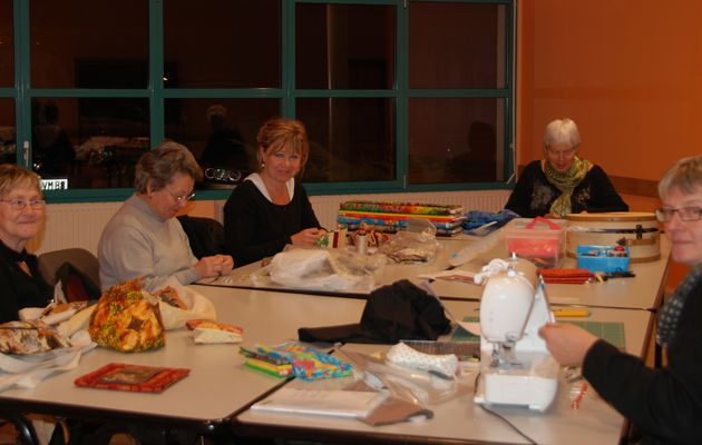 club de patchwork à Arches / quilting group in Arches