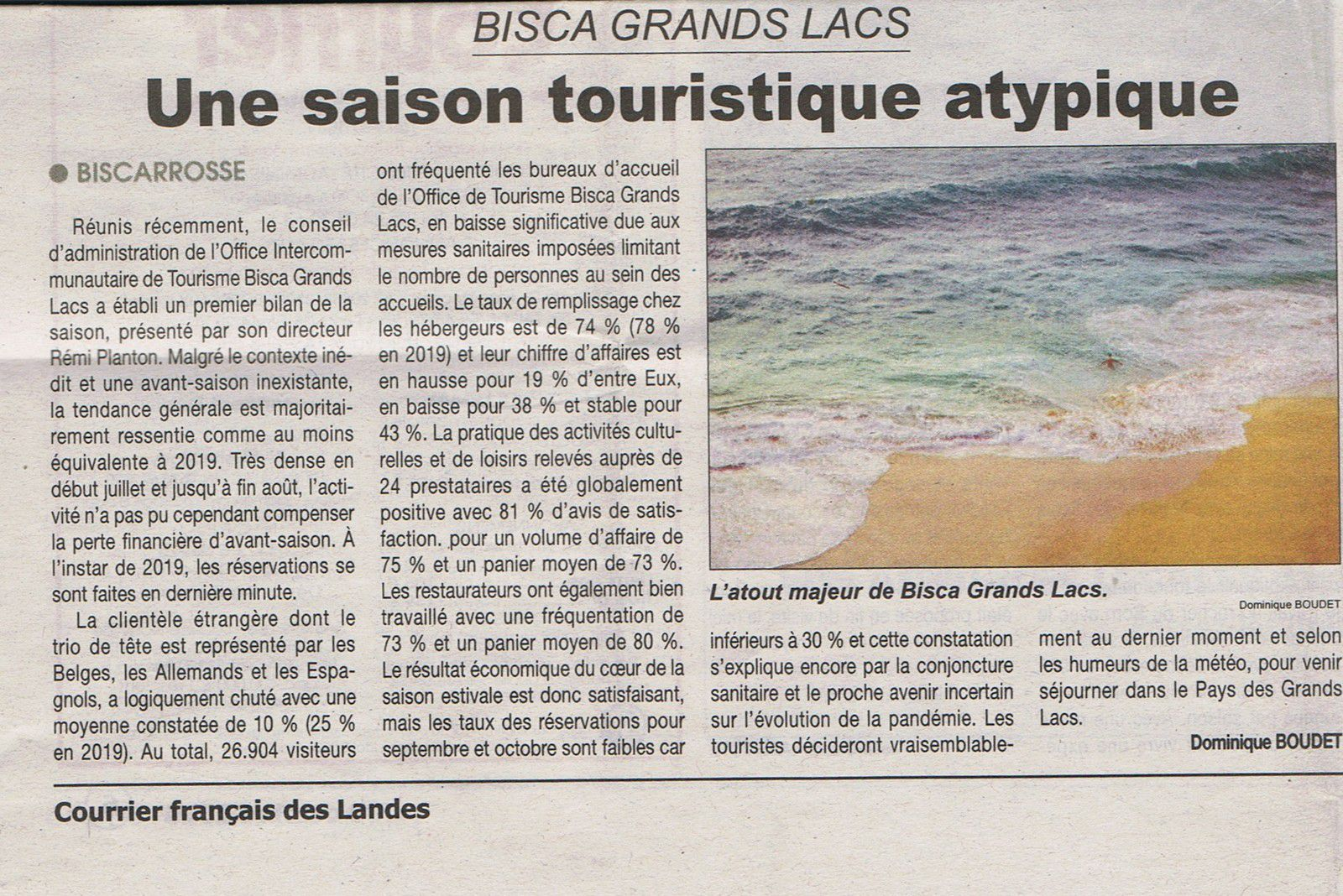 L'eau et le tourisme, l'heure des bilans